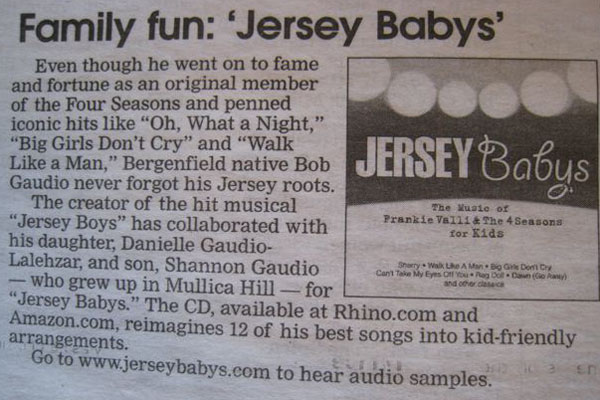 South Jersey Scene Courier Post September 26, 2008